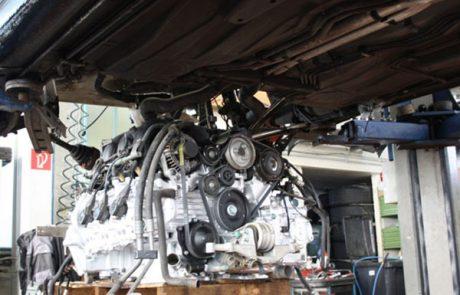 Austausch Porsche Motor